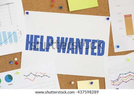 CHART BUSINESS GRAPH RESULT COMPANY HELP WANTED CONCEPT - stock photo