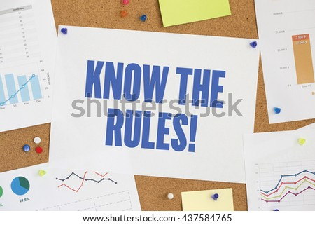 CHART BUSINESS GRAPH RESULT COMPANY KNOW THE RULES! CONCEPT - stock photo