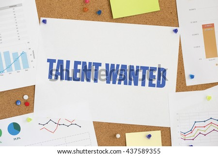 CHART BUSINESS GRAPH RESULT COMPANY TALENT WANTED CONCEPT - stock photo