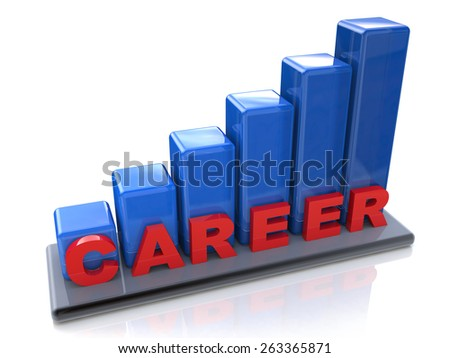 Chart career success. Ladder of Career  - stock photo