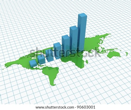 Chart, diagram - stock photo