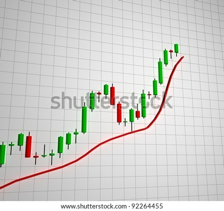 Chart, diagram - stock photo