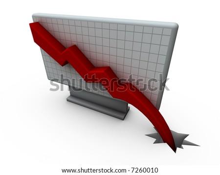 Chart Down - stock photo