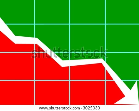 chart downward trend - stock photo