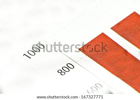 Chart or diagram in newspaper or printed media - stock photo