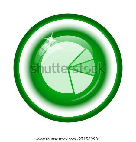 Chart pie icon. Internet button on white background.  - stock photo