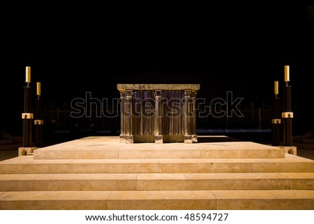 Chartres Cathedral altar, France - stock photo