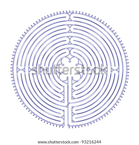 Chartres Peace Labyrinth - stock photo