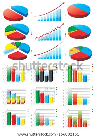 Charts. Set - stock photo