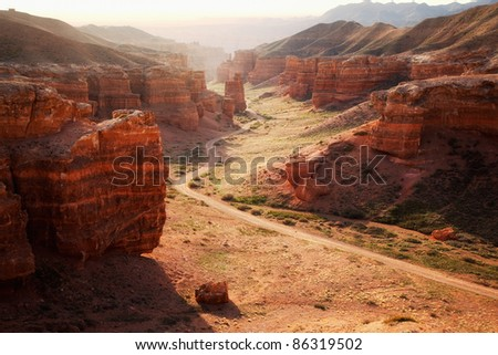 Charyn canyon in the Kazakhstan