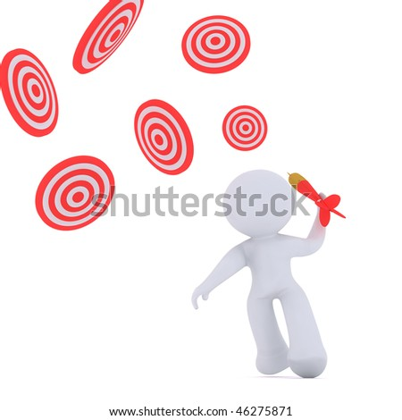 CHASING TARGETS - stock photo
