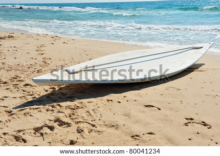Chaska or Hasake is a hollow vessel, of wood, with no rail or sail. The tool used in lifesaving. - stock photo