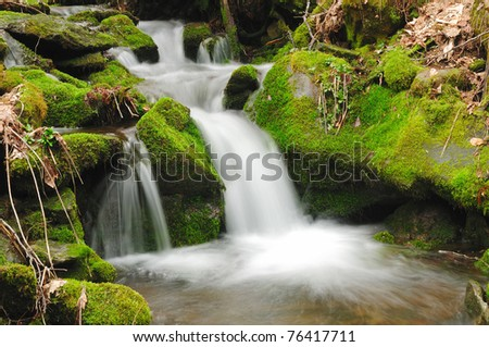 Chasteen Creek in the Great Smoky Mountains in North Carolina - stock photo