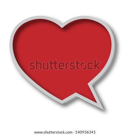 Chat bubble - stock photo