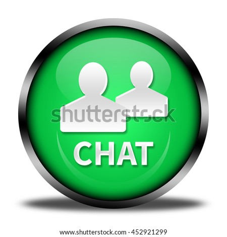 chat button isolated. 3D illustration  - stock photo