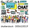 Chat Chatting Communication Social Media Internet Concept - stock photo