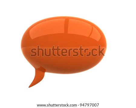 Chat - 3d render illustration - stock photo