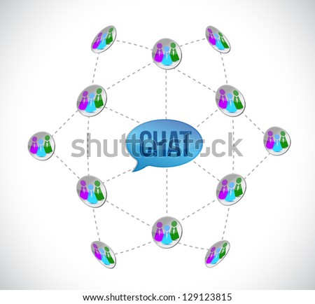 chat diagram illustration design over a white background - stock photo