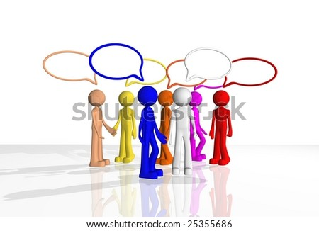 chat discussion - stock photo