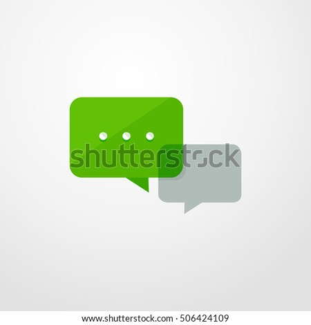 chat icon. flat design
