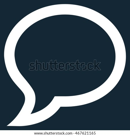 Chat Message glyph icon. Style is outline flat icon symbol, white color, dark blue background.