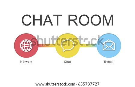 Chat Room Communication Digital Stock Illustration 655737727