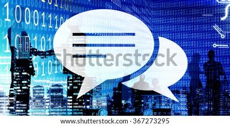 Chat Speech Bubble Communication Conversation Concept - stock photo