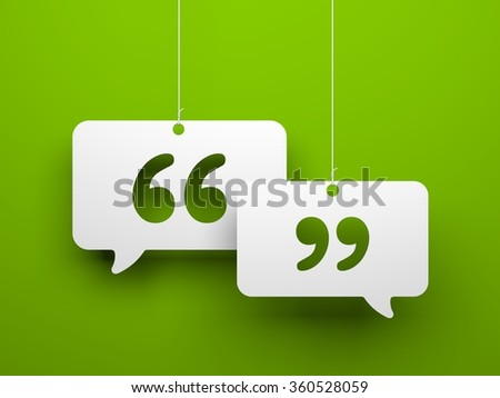 Chat symbol and Quotation Mark - stock photo