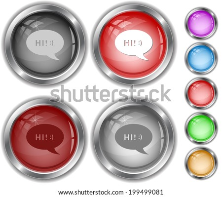 Chat symbol. Raster internet buttons.  - stock photo