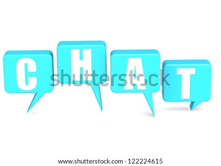 Chat with speech bubble - stock photo