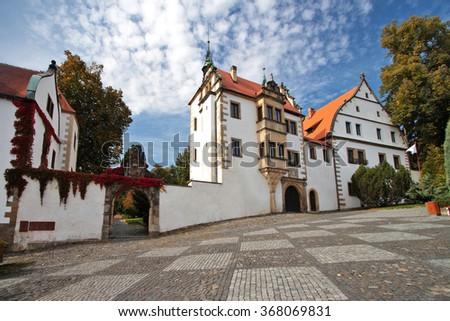 chateau benesov nad ploucnici, czech republic - stock photo