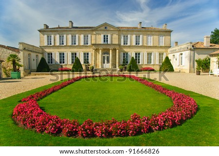 Chateau Branaire-Ducru in region Medoc, France - stock photo
