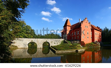 chateau cervena lhota - stock photo