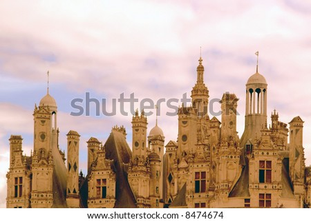 Chateau chambord in the loire valley france europe.