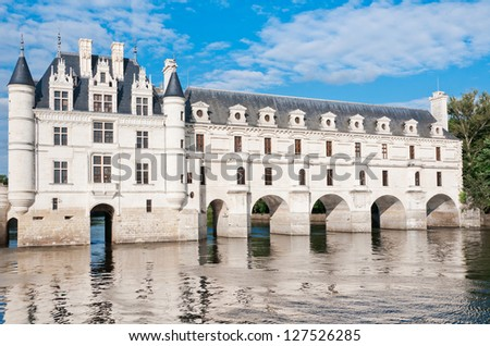 Chateau Chenonceau, Loire Valley, France - stock photo