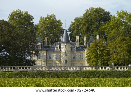Chateau Comtesse Lalande - stock photo