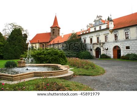 Chateau court - stock photo