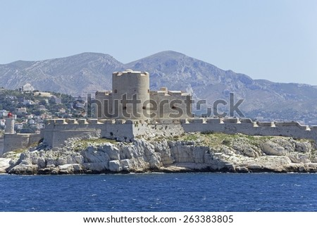 Chateau d'If in Marseille, France