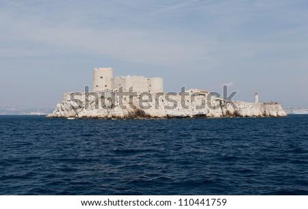 chateau d'if near marseille, france - stock photo