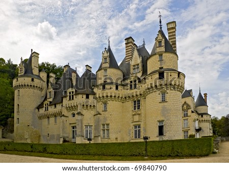 Chateau d'Usse is the inspiration for the fairy-tale castle in Sleeping Beauty - stock photo