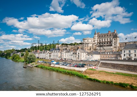 Chateau de Amboise in Loire valley, France - stock photo