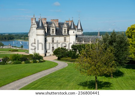 Chateau de Amboise medieval castle, . Loire Valley, France, Europe - stock photo