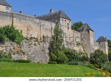 Chateau de Caen castle in the Norman town of Caen in the Calvados departement in Basse Normandie France