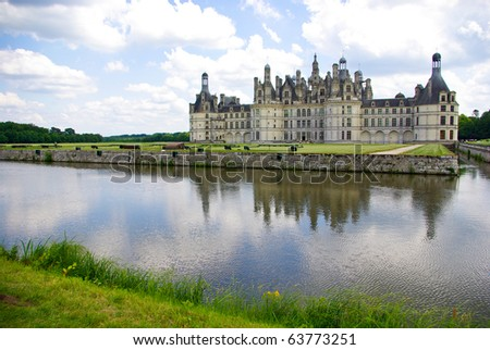 Chateau de Chambord in Loire valley, France - stock photo