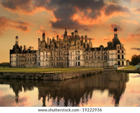 Chateau de Chambord, Loire Valley, France - stock photo