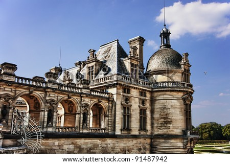 Chateau de Chantilly in France