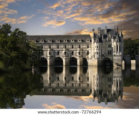 Chateau de Chenonceau, Loire Valley, France - stock photo
