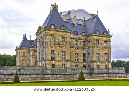Chateau de Vaux-le-Vicomte (1661) - baroque French Palace located in Maincy, near Melun, in Seine-et-Marne department of France.