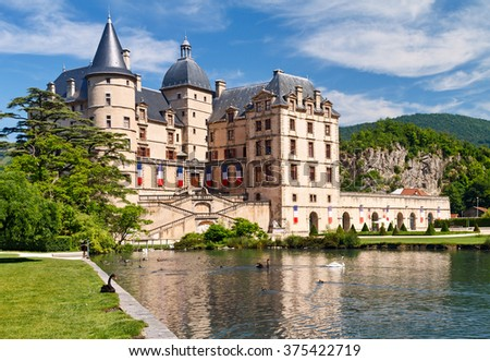 Chateau de Vizille is a castle in the French town of Vizille near Grenoble. - stock photo