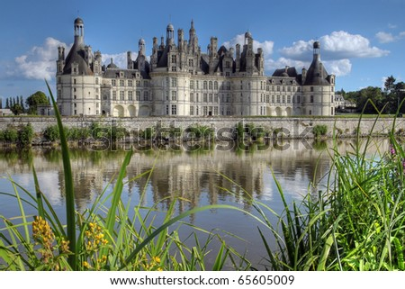 Chateau du Chambord, Loire Valley, France (HDR image) - stock photo